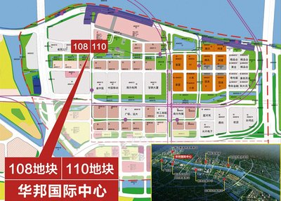 华邦国际中心项目地理位置示意图