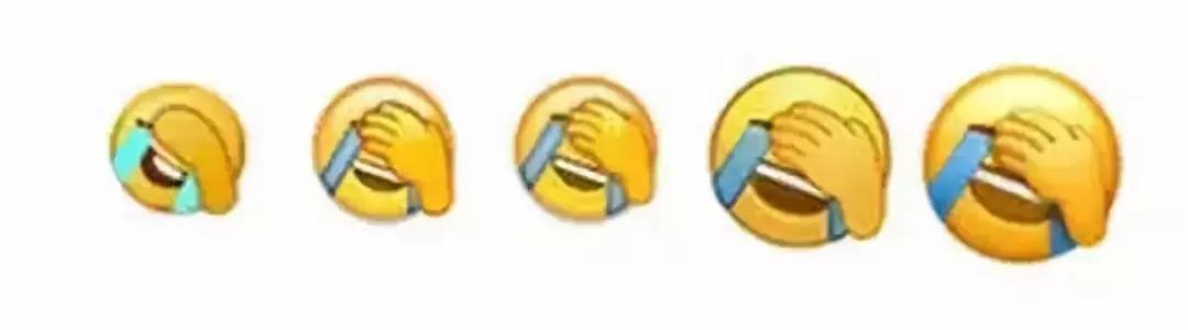 """据了解,""""捂脸""""表情共经历微信表情团队五次改版图片"""