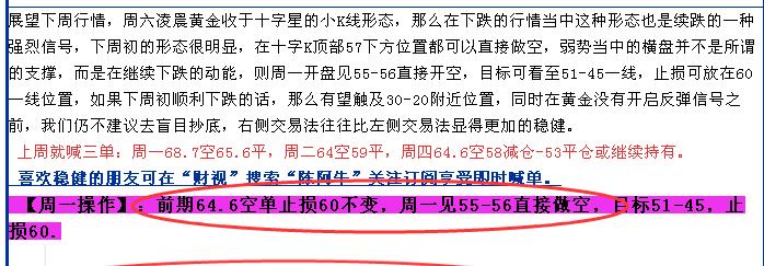 《陈阿牛》6月21日,黄金45-46继续空,只空不多。