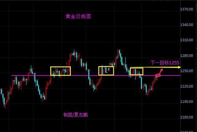 夏志鹏:黄金强势回调,关注1235.5的得失