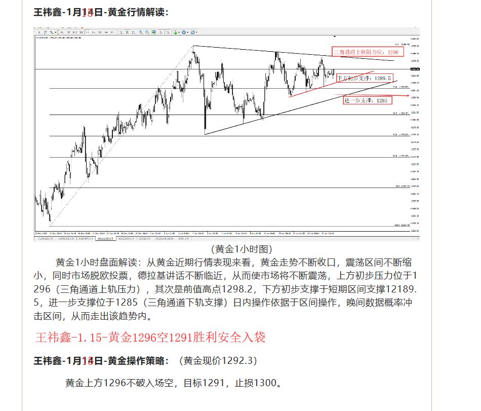 王祎鑫-1.22-西欧亚盘行情剖析